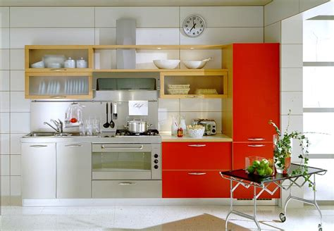 kitchen cabinet for small space modern kitchen designs in red interior decorating home