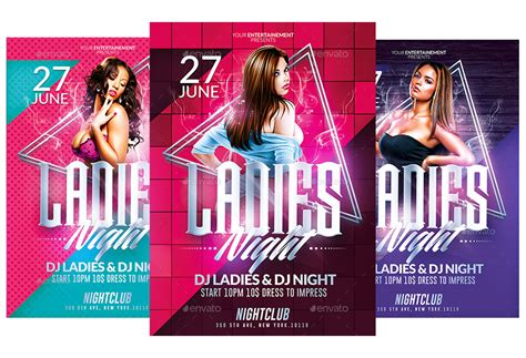 templates flyer png ladies night party psd flyer templates pack by