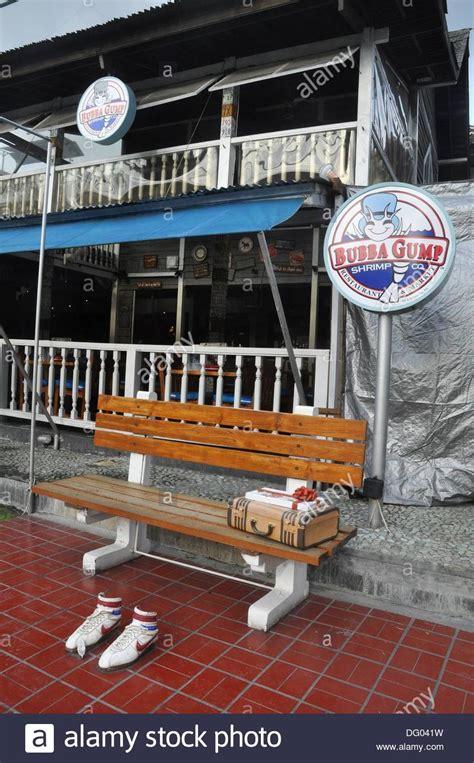 bubba gump bench kuta beach bali indonesia a forrest gump 180 s bench