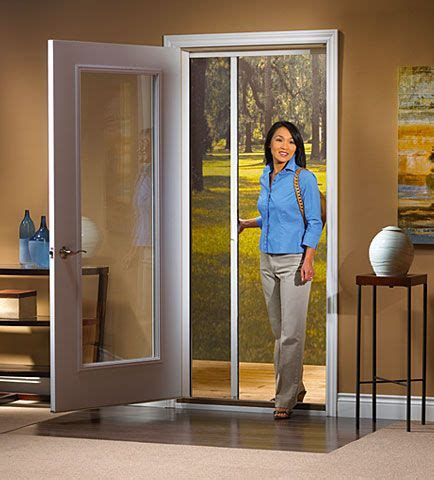 odl retractable screen for single swinging doors git bizy swinging doors and screens