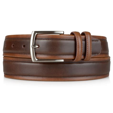 mens handcrafted two tone faux leather belt ebay