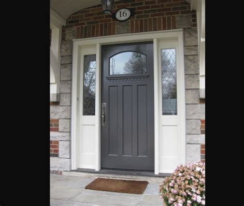 Front Door With Sidelight Exterior Doors Side Light Entry Doors Amberwood Doors Inc