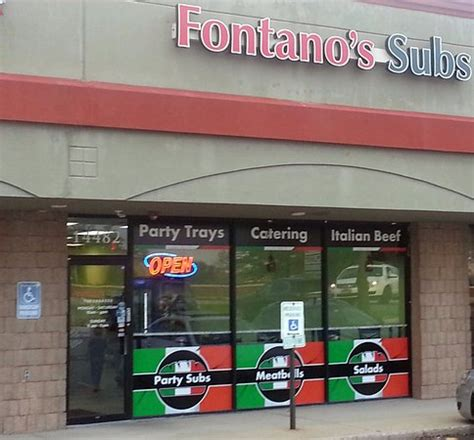 front of & entrance to fontano's subs picture of fontano