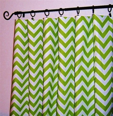 green chevron curtains unavailable listing on etsy
