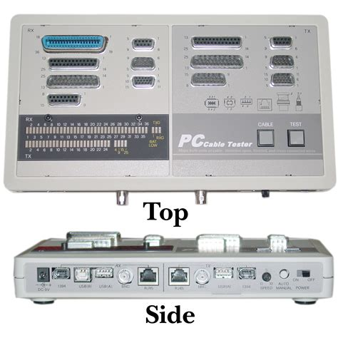 Computer Product Tester by Pc Cable Tester Tests Bnc Db15 Db9 Db25 Rj45 Usb And Ieee 1394