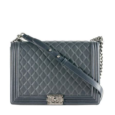 Quilted Boy Flap by Chanel Quilted Lambskin Boy Flap Large Shoulder Bag