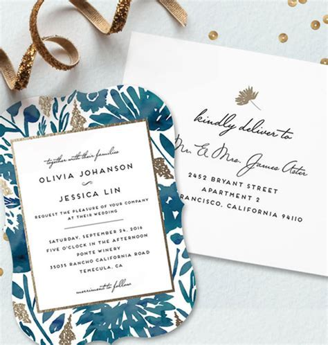 Wedding trends   Minted wedding invitations   100 Layer Cake