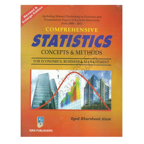 Aptitude Test For Mba In Iqra by Comprehensive Statistics Concepts Methods Syed Khursheed