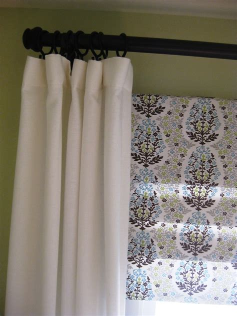 roman shade on curtain rod 17 best images about window shades on pinterest roman