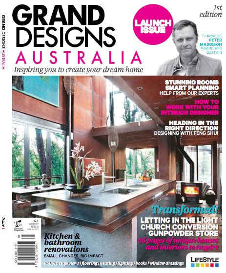 the new grand designs australia magazine the interiors