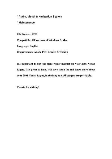 old car owners manuals 2011 nissan rogue parking system 2008 nissan rogue service repair manual download