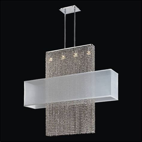 Rectangular Shade Chandelier Long Crystal Chandelier Glow Lighting Chandeliers