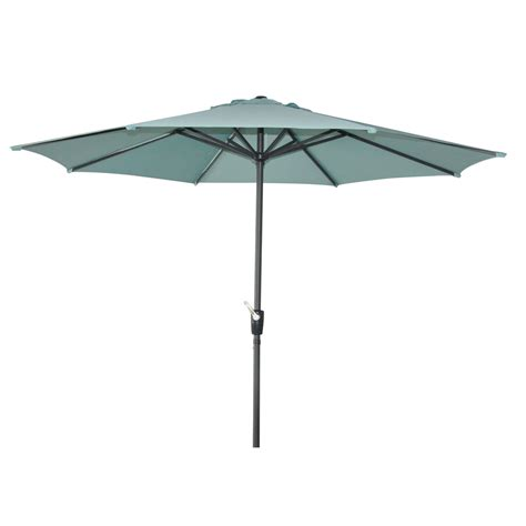 Patio Umbrellas At Lowes Shop Garden Treasures Patio Umbrella Common 105 In W X 105 In L Actual 105 In W X 105 In L