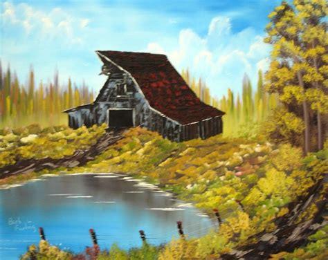 bob ross painting barns rustic barn 257 by barbara furlong artwanted