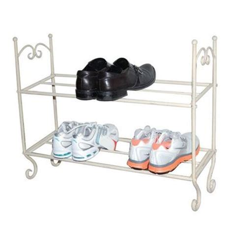Chic Shoe Rack by Metal Shabby Chic Vintage Style Storage Shoe Shoes Rack