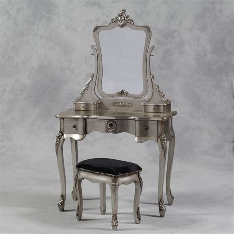 La Vanity by A Dressing Table Set In Antique Silver