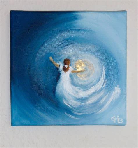 Moderne Acrylbilder Vorlagen acrylmalerei auf keilrahmen original signiert blau blue