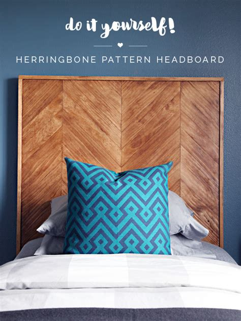 headboard pattern iheart organizing diy herringbone pattern headboard