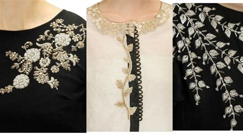 embroidery design for kurta neck very beautiful embroidery designs for kurti neck dresses