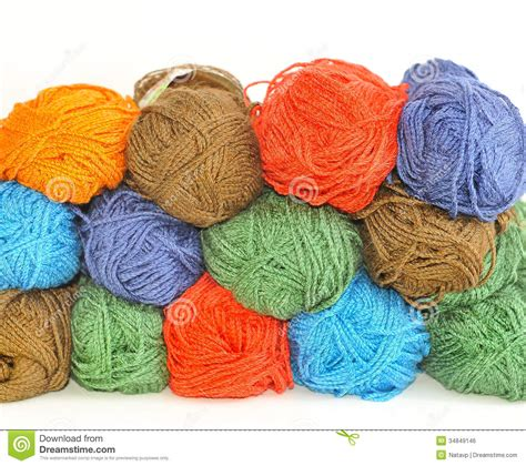 how many skeins of yarn to knit a blanket multi colored skeins of yarn for knitting stock photo