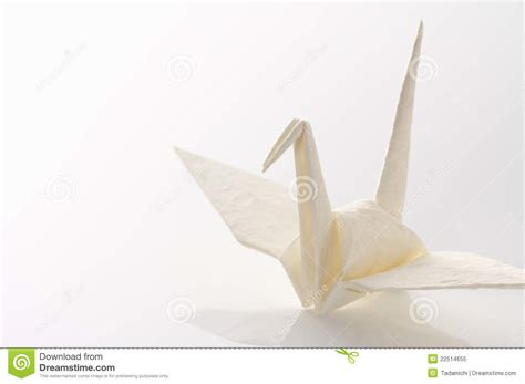 Origami Paper White - white origami crane royalty free stock photo image 22514655