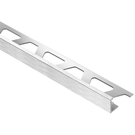 Decorative Trim Home Depot schluter jolly brushed chrome anodized aluminum 3 8 in x