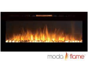50 electric wall mounted fireplace moda 50 quot cynergy pebbles built in wall mounted