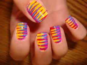 colorful nail easy colorful nail ideas