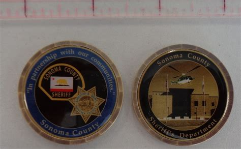 department challenge coins sonoma county sheriff s department challenge coin