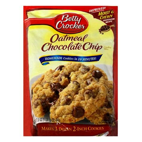 betty crocker cookies betty crocker cookie mix oatmeal chocolate chip 17 5