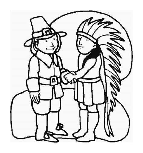 thanksgiving coloring pages indian clever design pilgrim and indian coloring pages