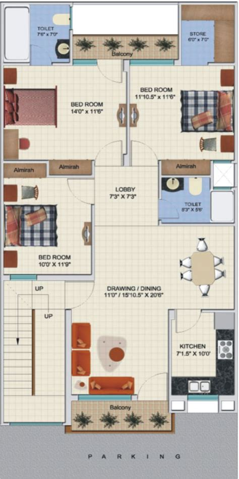 3bkh house design 3 bhk floor plans independent house