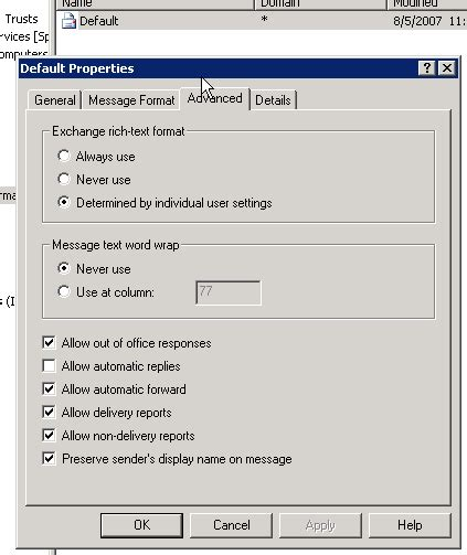 auto forward forwarding email from exchange server to an external email
