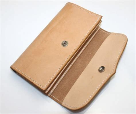 Handmade Leather Wallet - handmade leather wallet leather checkbook wallet bagswish