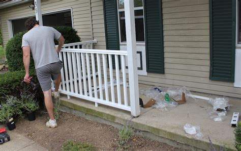 how to install a porch railing and add some curb appeal