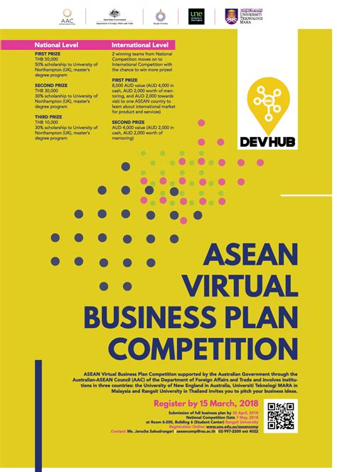 Business Plan Competitions Mba by Asean Business Plan Competition Of