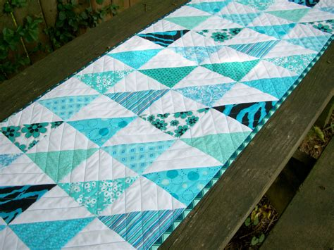 Aqua Table Runner by Teal Table Runner Turquoise Aqua Quilted By Atthebrightspot