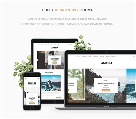theme blog magazine amelia clean blog magazine wordpress theme