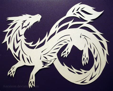 papercutting dragon by ancaleon on deviantart