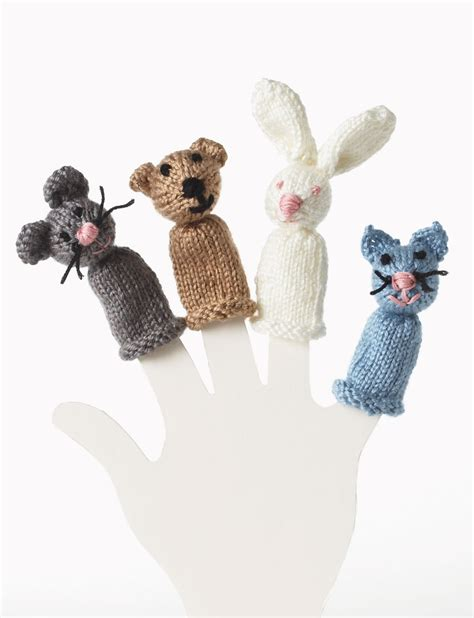 free knitting patterns finger puppets bernat bunny and mouse finger puppet knit