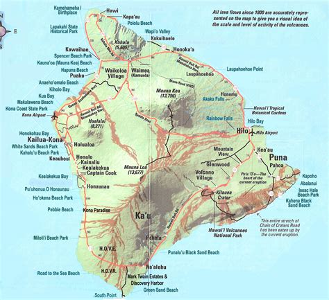 printable road map of big island hawaii hawaii island map hawaii mappery