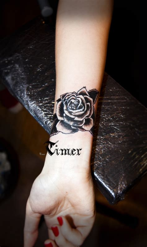 black rose tattoo on wrist tattoos page 120