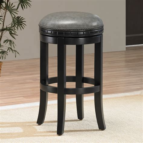 Faux Leather Counter Stools by Black Counter Height Backless Bar Stools With 4 Saber Legs