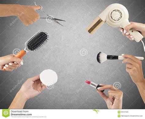 Twist Hairstyle Tools Clipart No Background by Makeup And Hairstyle Tools Stock Photo Image 60127593