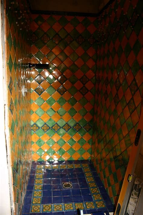 mexican tile bathroom mexican tile in the shower mexican home decor gallery