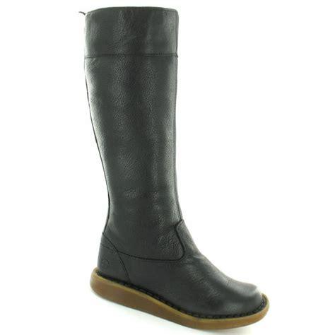dr martens womens grain leather flat knee high