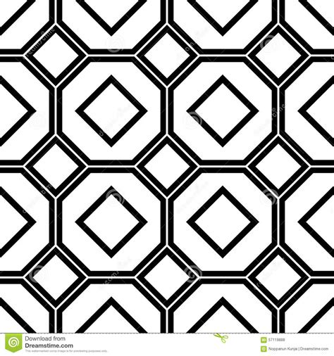 octagon pattern vector black and white geometric seamless pattern stock vector
