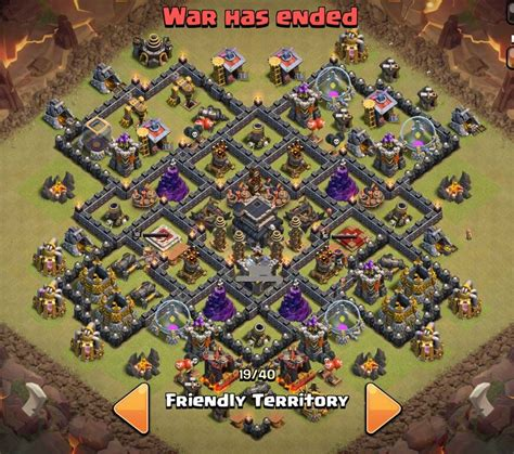 layout coc keren tổng hợp war base cho town hall 9 clash of clans việt