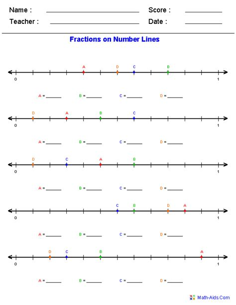 Fractions On A Number Line Worksheet by Number Line Worksheets Dynamic Number Line Worksheets