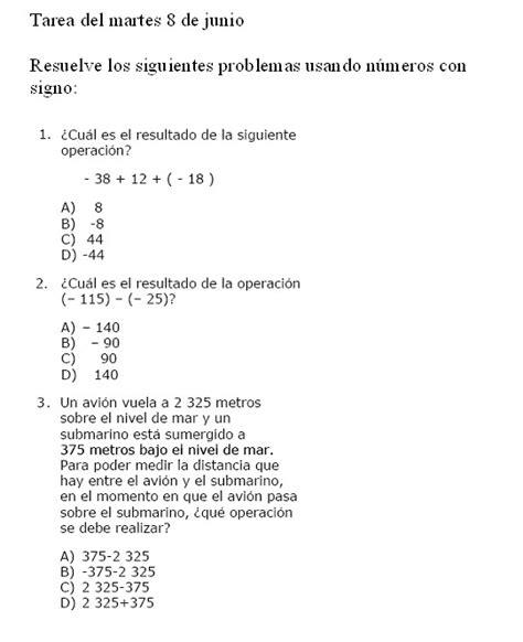 tarea para el lunes 8 de junio del 2015 tareas de matematicas primero de secundaria
